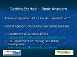 getting started basic answers10