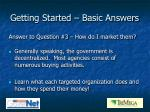 getting started basic answers4