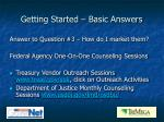 getting started basic answers7