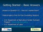 getting started basic answers8