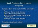 small business procurement programs1
