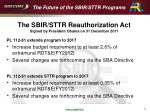 the future of the sbir sttr programs