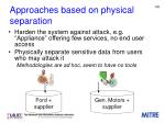 approaches based on physical separation2