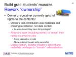 build grad students muscles rework ownership