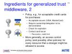 ingredients for generalized trust middleware 2