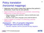 policy translation horizontal mappings