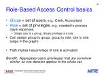 role based access control basics