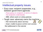security basics intellectual property issues