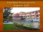 park hotel troyan up in the kapincho park