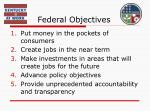 federal objectives