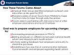 employer forum series