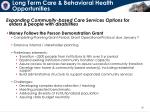 long term care behavioral health opportunities
