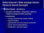 kako internet i web menjaju biznis osnovni bizn is koncepti