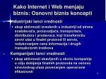 kako internet i web menjaju biznis osnovni bizn is koncepti1