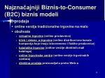 najzna ajniji b iznis to consumer b2c biznis m odel i3
