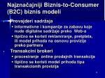najzna ajniji b iznis to consumer b2c biznis m odel i4