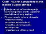osam klju ni h komponenti biznis m odel a model prihoda