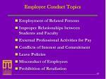 employee conduct topics