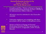 external professional activities for pay section v of part vi ecu faculty manual cont1