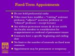 fixed term appointments