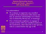 improper relationships between students and faculty appendix u ecu faculty manual