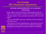 non teaching epa administrator appointments