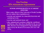 non teaching epa administrator appointments1