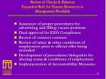 review of checks balances expanded role for human resources in management flexibility