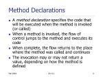 method declarations