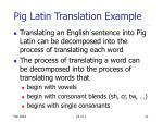 pig latin translation example