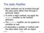 the static modifier