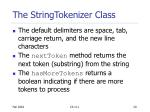 the stringtokenizer class1