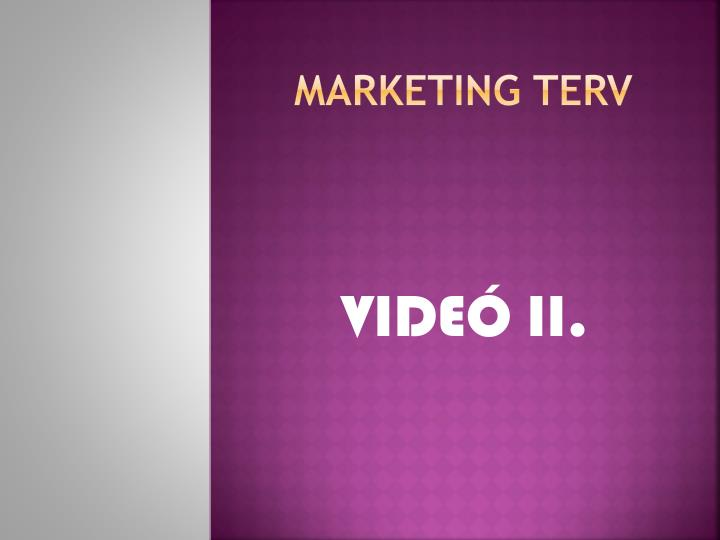 marketing terv n.