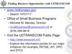 finding business opportunities with ustranscom