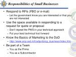 responsibilities of small businesses