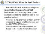 ustranscom vision for small business