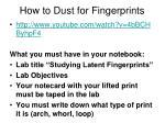 how to dust for fingerprints