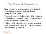 the future of fingerprinting