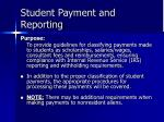 student payment and reporting