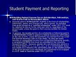 student payment and reporting11