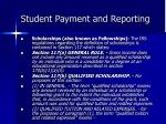 student payment and reporting2