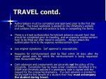travel contd