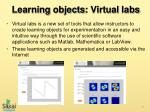 learning objects virtual labs