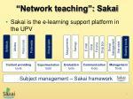 network teaching sakai