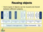 reusing objects