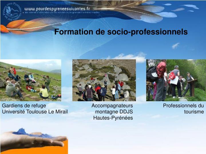 Formation de socio-professionnels