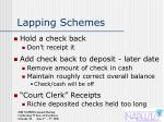 lapping schemes