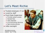 let s meet richie