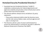 homeland security presidential directive 7