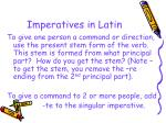 imperatives in latin
